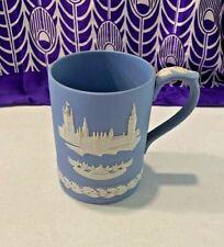 VINTAGE 1974 WEDGEWOOD JASPERWARE BLUE HOUSES OF PARLIAMENT LIMITED ED MUG CUP