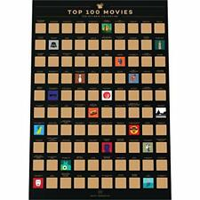 Enno Vatti 100 Movies Scratch Off Poster - Top Films of All Time Bucket List