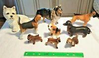 9 VTG Dog Figurines Bone China Ceramic Porcelain DACHSHUND TERRIER COLLIE etc..