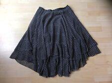 L K Bennett Black & White Lined Gypsy Style Flow Skirt, Size:  UK 8     EU 36