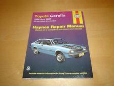 Haynes TOYOTA COROLLA GT S AE86 (80-87) Owners Repair Service Workshop Manual
