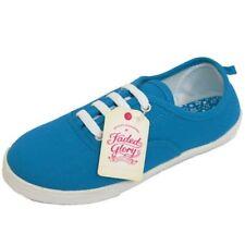 Chaussures de tennis bleus en toile pour fille de 2 à 16 ans