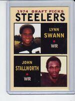 Lynn Swann/John Stallworth '74 Pittsburgh Steelers Draft Picks #1 rookie stars