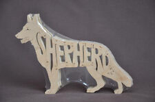 German Shepherd Dog GSD Wooden Amish Made Toy Puzzle  Art