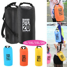 Waterproof Dry Bag Sack Kayak Sailing Fishing Camping Float Canoe 5L/10L/15L/20L