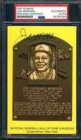 Joe Morgan PSA DNA Coa Signed Gold HOF Plaque Autograph