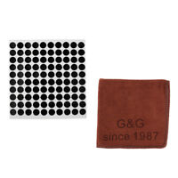 0.5'' Snooker Table Dots Self Adhesive Spot Marker with Pool Cue Clean Towel