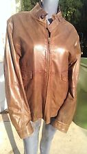 Scully Leather 115 Brown Lamb Motorcycle Jacket (L)