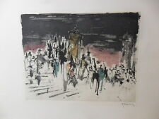 LISTED ROGER HEBBELINCK LIMITED EDITION ETCHING~PENCIL SIGNED/NUMBERED 8/150