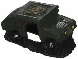 Blue Ribbon Pet Army Humvee With Cave Aquarium Ornament Aquatic 3 Inch