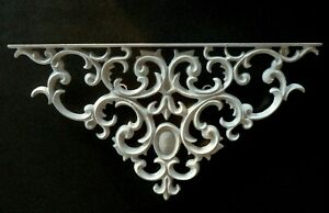 Decorative Cast Iron Wall Piece/Bracket White 22x12x1 Victorian Architectural