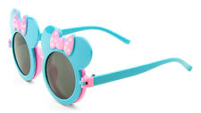 KIDS BLUE PINK MOUSE EARS FLIP UP SUNGLASSES CLEAR BLK LENS MICKEY MINNIE BOW