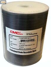 100-Pak CMC PRO (TY Technology) White Inkjet Hub 16x DVD-R's in Tapewrap