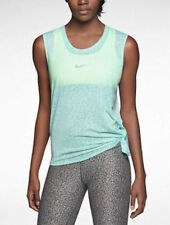 NWT Nikes Women Top Club Mezzo Tie in Bleached Turquoise Size M/L