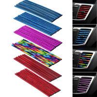 10 Pcs Auto Car Accessories Colorful Air Conditioner Air Outlet Decoration Strip