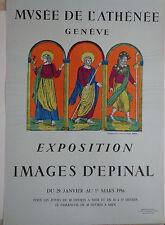 Vintage Imagerie Pellerin print/Musee de L'Athenee Geneve INV2283