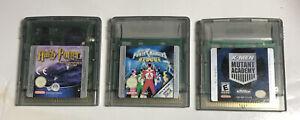 3 X NINTENDO GAMEBOY COLOR GAMEs Harry Potter X-men Power Rangers