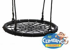 Kids Basket Crows Nest swing Seat Set BLACK BARGAIN! 60cm Climbing Frame Tree
