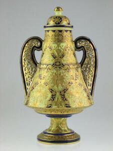 Rare 19th Century Porcelain Royal Crown Derby Alhambra Vase Circa 1890