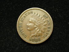SUMMER SALE!!  XF 1883 INDIAN HEAD CENT PENNY w/ DIAMONDS & FULL LIBERTY #144s