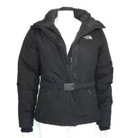 NORTH FACE Women's Goose Down Hyvent Hooded Winter Parka Jacket Black size Small