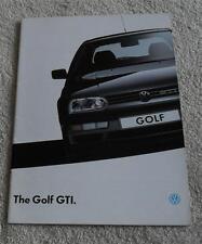 Volkswagen VW Golf Mk3 GTI & GTI 16v Brochure 1993