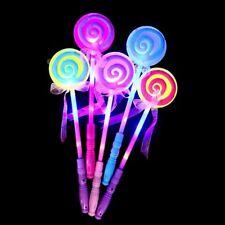 LED Flash Light Magic Glow Stick Wand Lollipop Light-Up Toy Kids Gifts Decor
