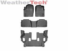 WeatherTech Floor Mats FloorLiner for QX56/QX80/Armada- 1st/2nd/3rd Row - Black