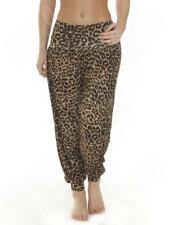 New Womens Ladies Ali Baba Harem Leopard Animal Print Trousers Pants S M L XL 8