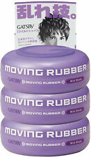 3 PACK GATSBY Moving Rubber Hair Styling Wax Wild Shake 80G