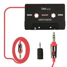 3.5mm Car Mp3 Adapter Aux Cable Cord Tape Player for Happy for Car Audio Stereo