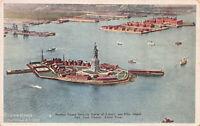 Bedloes Island Showing Statue of Liberty, New York, N.Y., Early Postcard, Unused