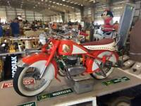 "Vintage Lenaerts Belgium ""Mini"" INDIAN Kiddie Carnival Ride Motorcycle--RARE!"