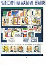 COMPLETE 1982 MEXICO Collection Commemorative Year MNH (46 Stamps)