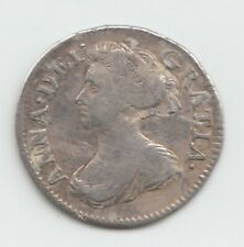 More details for rare 1705 silver threepence 3d - queen anne