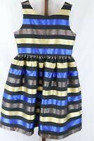 Dressed Up by Gymboree Girls Multi Metallic Striped Sleeveless  Dress Size 10