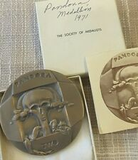 Society of Medalists Art bronze medal 84th 1971 Weinberg Pandora Skull BOX N125