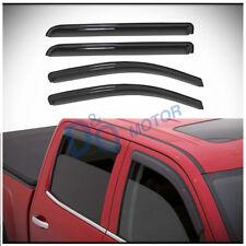 4pcs Sun/Rain Guard Vent Shade Window Visors Fit 14-18 Silverado/Sierra Crew Cab