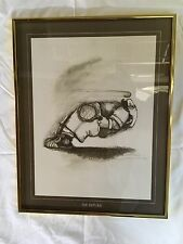 """Gary Patterson Tennis Print, """"THE RETURN"""" 1973 Thought Factory #731 Framed-16X20"""