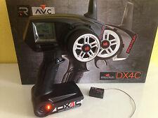 Spektrum DX4C DSMR 2.4 GHz 4-channel Car Emisor con SRS4210 Receptor AVC! NUEVO