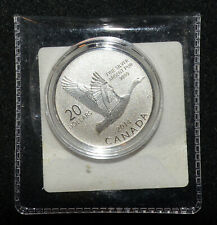 2014 Canada GOOSE $20 for 20 Dollars .9999 Silver Coin in Orig Capsule Sealed