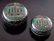 2 anciennes boites betel laque Birmanie temple Old burmese box green lacquer