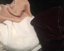 "Silk VELVET NEUTRALS Fabric Sample Set Remnants Lot - 6""x45"" Each"
