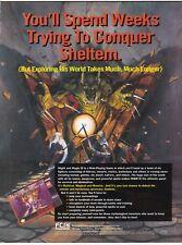 Super Nintendo SNES MIGHT & MAGIC III fantasy rpg video game print ad page