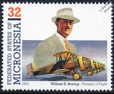 William E. Boeing P-12 F4B USAAC Fighter Aircraft Stamp (1996 Micronesia)