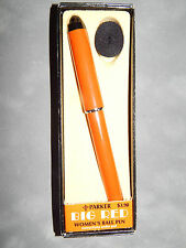 PARKER BIG RED WOMENS ORANGE &    SILVER TRIM  PEN NEW  IN BOX