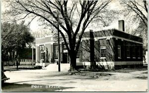 "WINTERSET, Iowa RPPC Real Photo Postcard ""POST OFFICE"" Street View / 1948 Cancel"
