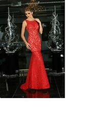 Xcite  Lace Dress Red/Nude 30620