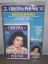"Cristina D'Avena MC + VHS  "" CRISTINA PER NOI "" 1991 bim bum bam raro blister"