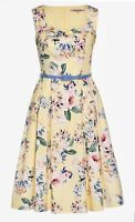 Review Sz 14 Neroli Floral Dress Lemon/Multi Brand New With Tags L 109cm No Belt